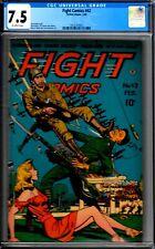 FIGHT #42- 1946 CGC 7.5 MATT BAKER/ DOOLIN WAR CVR-HIGRADE