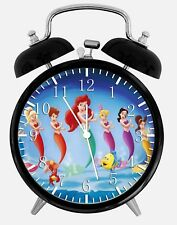 "Little Mermaid Ariel Alarm Desk Clock 3.75"" Home or Office Decor Y58 Nice Gift"
