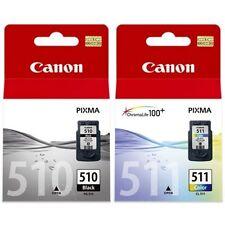 2 x Genuine Canon PG-510 CL-511 Ink Cartridges PG510 + CL511 MP250 MP495 MX360