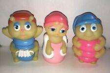 Vintage 1986 Playskool Wendy's Gloworms (3) Bashfulbug, Blue and Pink Snug Bugs