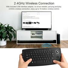 2.4GHz Wireless Keyboard with Trackball Mouse Scroll Wheel Remote Control H3C8