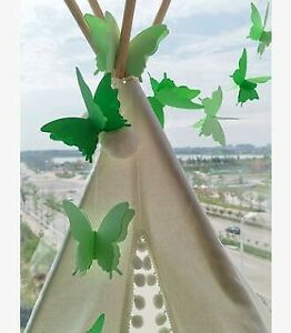 3D Paper Butterfly Hanging Garland Bunting Banner For Birthday Wedding Decor UK
