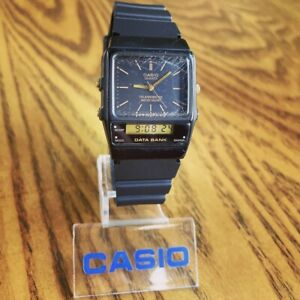 RARE Vintage 1987 Casio AB-10W Ana-Digi Data Bank Telememo 30 Watch, Module 344