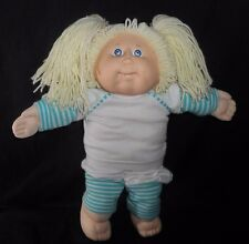 VINTAGE 1982 CABBAGE PATCH KIDS DOLL LONG BLONDE HAIR W/ 2 BOTTOM TEETH TOY