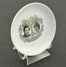 Royal Victoria mini PLATE Princess Diana Prince Charles Wedding 1981 w/ Stand 4""