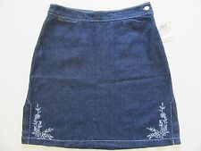 NWT Ladies Denim Skirt 9 Jr Girl TEEN Dark Blue Jean Lightweight Mini MSRP $29