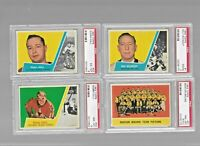 Complete set of 66  1963-64 TOPPS HOCKEY CARDS, 13 are PSA Graded