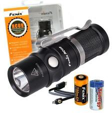 Fenix RC09 550 Lumens Rechargeable LED Flashlight w/ 16340 & CR123A Batteries