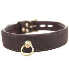BOUND Nubuck Leather Choker with O Ring Sensual Desire Premium Erotic Restraint