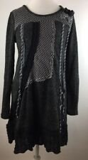 John Fashion Sweater Women's Size Large Dress Boho Hippie Wool Blend Ruffle Hem
