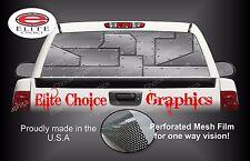 Airplane Metal Rear Window Graphic Decal Sticker Truck Van Car SUV