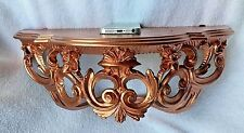 Wall Bracket BAROQUE COPPER TELEPHONE/spiegelkonsolen 40x17 Shelf Antique 74