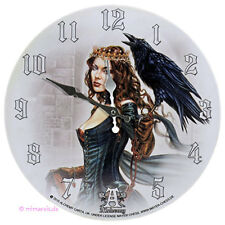 Wanduhr Bilderuhr Uhr Deko - Vesoeritide Tarot Queen - Königin mit Rabe