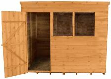 Forest Overlap Wooden Pent Garden Shed - 8x6ft