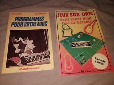 """Lot de 2 livres Oric 1 /Atmos: """"Programmes pour votre Oric""""+""""Jeux sur Oric"""""""
