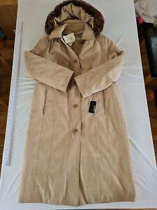 Ladies Coat Gray & Osborne Size 14 Long padded Stone N.o 564