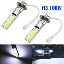 2X H3 Fog/Driving Lights Cree LED Light Bulbs 6000K Bright White 50W 6000LM NY