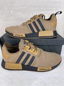 Mens adidas NMD R1 Athletic Shoe - Raw Desert / Black / Mesa Size 12
