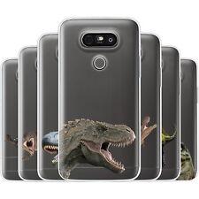 Dessana Prehistoric Dinosaur TPU Silicone Protective Cover Phone Case For LG
