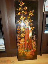 USSR RUSSIAN GIRL Lacquer Panel 1970`s