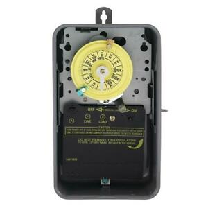 T101R Series 40 Amp 125-Volt 24-Hour SPST Mechanical Time Switch with Outdoor En