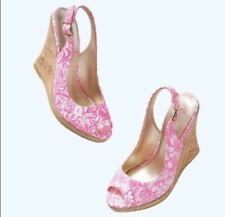 NEW Lilly Pulitzer Shoes Krisie Heel  Sandal  Wedge  Size 8 $ 198