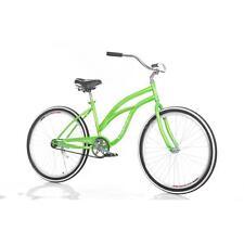 "26"" Women Men's Beach Bayside Cruiser Bike Green New Carbon Steel I8C3"
