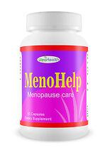 MENO HELP Natural Herbal Remedy for Menopause Herbs Vitamins Supplements 60 CAPS