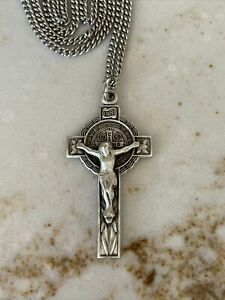 Vintage French Silver and Mother of Pearl Cross Vintage French Silver Crucifix Vintage MOP Cross