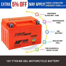 GEL Battery YTX9-BS for Suzuki GSXR 600 650 750 Bandit Katana DR650SE KTM LC4