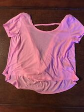 Pink Medium Cropped Shirt Open Back from the store Delias