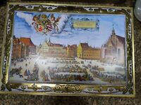 Large Biscuit Cookie Tin Box E. Otto Schmidt Nurnberg Germany 1987 Lebkuchen