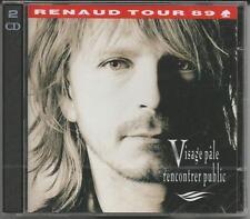 """Renaud """"visage pâle rencontrer public"""" tour' 89 - 2 CD 1989 NOUVEAU & OVP"""
