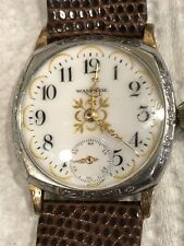 Vintage Waltham Wrist watch 2 Tone Case Fantastic Porcelain Dial And Hands