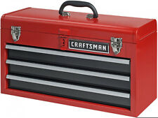 Craftsman 3 Drawer Tool Chest Portable Red Flip Up Handle Storage Organizer Red