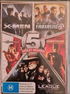 X-Men Fantastic 4 Daredevil league of extraordinary Gentlemen Elektra 5 movie