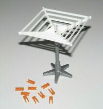 Playmobil Lot Accessoire Décor Etant à Linge Blanc + Epingles Orange NEW