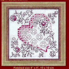 CLEARANCE -  REDWORK HEART BEADED CROSS STITCH KIT by RIOLIS