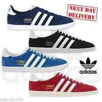 New Adidas Gazelle OG Original Suede Leather Mens Trainers Black Red Blue 7-12uk