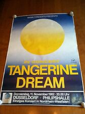TANGERINE DREAM Dusseldorf concert ooster 11.11.82 G+ condition w/minor creases