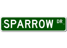 SPARROW Street Sign - Personalized Last Name Sign