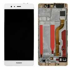 New Huawei P9 EVA-L09 Touch Screen Digitizer LCD Assembly With Frame White