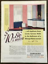 1936 Carrara Modern Structural Glass Print Ad Bathroom of a Chicago Homeowner
