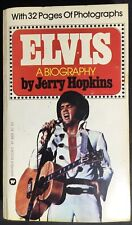 Elvis: A Biography - 1975 Warner Books Paperback Book By Jerry Hopkins - Red Ltr