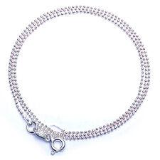 "SPECIAL!  Bead-18"" Diamond Cut 1mm 1.5 Gm Italian .925 Sterling Silver Chain 18"""