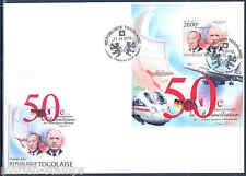 TOGO 2012 50th  ANNIVERSARY OF FRANCE GERMANY de GAULLE & ADENAUER S/S FDC