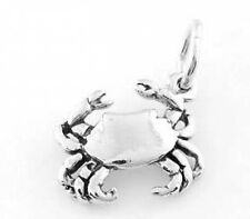 STERLING SILVER ONE SIDED CRAB CHARM PENDANT