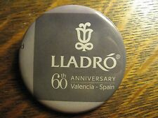 Lladro 60th Anniversary Valencia Spain Logo Advertisement Pocket Lipstick Mirror