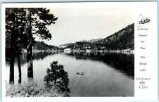 RPPC  BIG BEAR LAKE, California  CA    Looking Toward Dam   Frasher Postcard