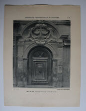 AIX PROVENCE Hotel ROQUESANTE Porte ARCHITECTURE Sculpture PHOTO 1910